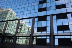 Reflexiones de cristal abstractas Fotos de archivo