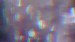 Reflexiones de cristal del vintage, distorsiones caóticas, efecto del daño de la TV Cubierto para cualquier clase de proyectos almacen de video
