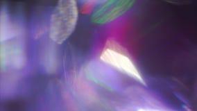 Reflexiones de cristal vibrantes, ruido del pixel, viejo concepto de la TV Escapes ligeros para la ciencia de los vídeos de los  almacen de metraje de vídeo
