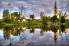 Reflexiones de la iglesia Imagen de archivo libre de regalías