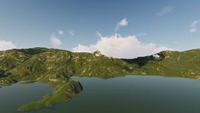 Reflexiones de la montaña en un lago almacen de metraje de vídeo