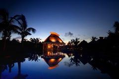 Reflexiones de la pagoda Imagenes de archivo