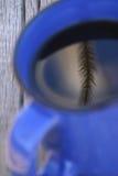 Reflexiones de la taza de café fotos de archivo libres de regalías