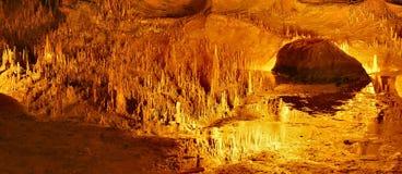 Reflexiones de las cavernas de Luray Fotografía de archivo libre de regalías