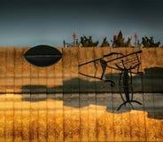 Reflexiones de objetos en agua Imagen de archivo libre de regalías
