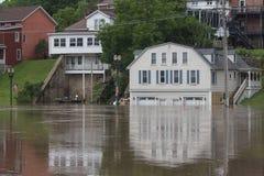 Reflexiones de una inundación Imagenes de archivo