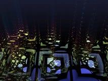 Reflexiones del agua stock de ilustración