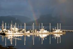 Reflexiones del arco iris Imágenes de archivo libres de regalías