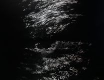 Reflexiones del claro de luna Imagen de archivo libre de regalías