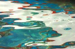 Reflexiones del color de agua Fotografía de archivo