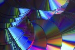 Reflexiones del color de los compact-disc fotografía de archivo
