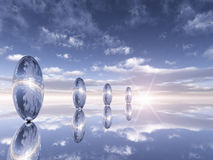 Reflexiones del cromo del horizonte Fotografía de archivo