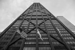 Reflexiones del edificio de Juan Hancock imágenes de archivo libres de regalías