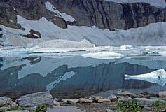 Reflexiones del hielo y del agua imágenes de archivo libres de regalías