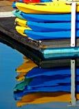 Reflexiones del kajak Imagen de archivo