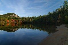 Reflexiones del lago echo Foto de archivo