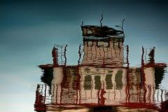 Reflexiones del objeto en agua Fotos de archivo