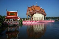 Reflexiones del templo de Pai Laem Imagen de archivo libre de regalías