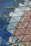 Reflexiones en el tejado del edificio moderno. Varsovia. Polonia Imágenes de archivo libres de regalías