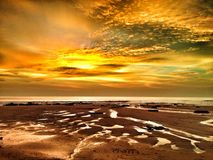 Reflexiones en la puesta del sol Fotografía de archivo libre de regalías