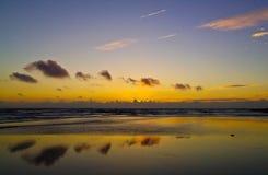 Reflexiones en la puesta del sol Imágenes de archivo libres de regalías