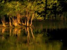 Reflexiones pintadas Digital del agua de la puesta del sol Imágenes de archivo libres de regalías