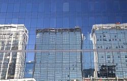 Reflexiones sobre el vidrio Imagenes de archivo