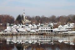 Reflexiones Whitehall Michigan de la orilla del lago Fotos de archivo