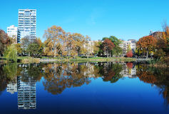 Reflexions in Central Park Stock Images