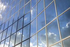 Reflexions in facade of modern building Royalty Free Stock Images