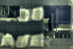reflexions okno Zdjęcie Stock