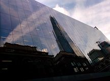 Reflexions. The shard reflected in glazing stock photography