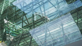 REFLEXIONS-Skyline timelaspe Platin Sentral Glas stock footage