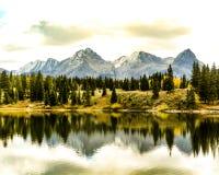 Reflexionsnedgång Colorado royaltyfri foto