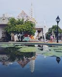 reflexionsog templet Arkivbild