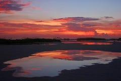 reflexionssolnedgång Royaltyfri Fotografi