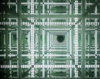 Reflexionstunnel des grünen Lichtes Lizenzfreies Stockfoto