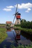 reflexionswindmill Fotografering för Bildbyråer