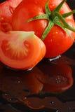 Reflexão do tomate Imagens de Stock
