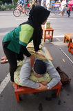 Reflexologi massage Royalty Free Stock Photos