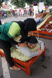 Reflexologi massage Stock Image