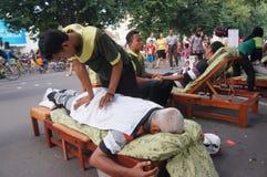 Reflexologi massage Royalty Free Stock Images