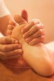 Reflexology foot massage, spa treatment,Thailand Royalty Free Stock Photography