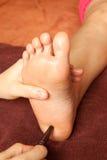 Reflexology Fußmassage, Badekurortfußbehandlung Stockfoto