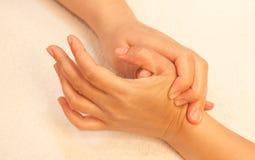 Reflexology Hand massage, spa hand treatment Royalty Free Stock Images