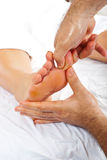 Reflexology massage royalty free stock photo