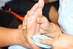 Reflexology massage, spa foot treatment,Thailand. Reflexology foot massage, spa foot treatment,Thailand Royalty Free Stock Photo