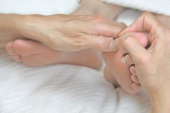 Reflexology treatment Stock Photos