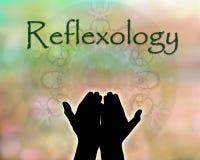 Reflexologyhänder Fotografering för Bildbyråer