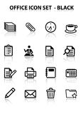 Reflita o jogo do ícone do escritório Imagens de Stock